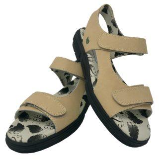 7f53d507e47e09 G2088 Ladies Classic Beige Spikeless Golf Sandal